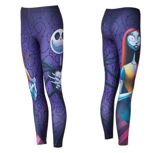 Halloween Nightmare Before Christmas Jack And Sally Women Leggings Pants Punk Gothic Cosplay Costumes - daily stop & shop