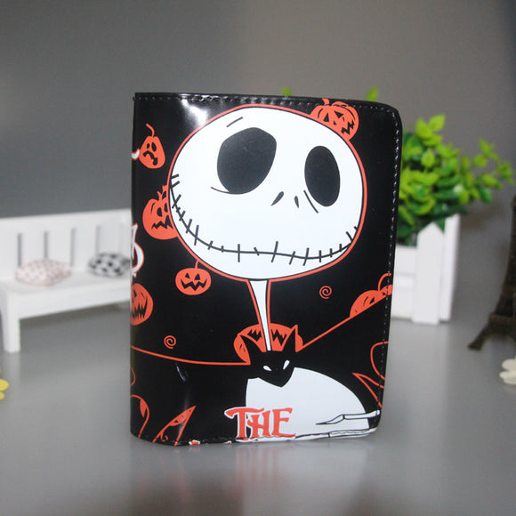 High Quality PU Short Wallet Printed w-Pumpkin King Jack Skellington of Animated CartoonThe Nightmare Before Christmas - daily stop & shop