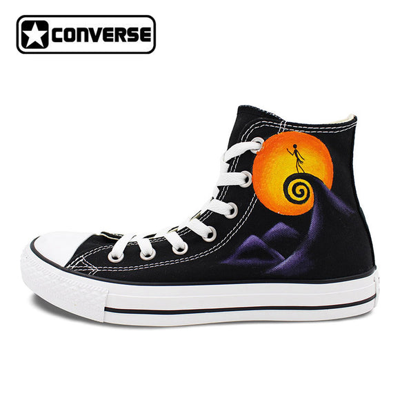 Jack Skellington Converse All Star Man Woman Shoes Nightmare Before Christmas Design Hand Painted Sneakers Men Women Gifts - daily stop & shop