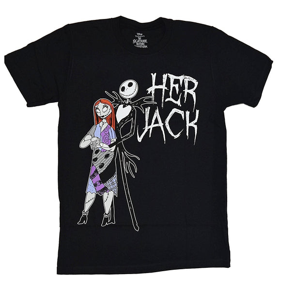 Nightmare Before Christmas His Jack Her Sally T-shirt New Arrival Male Tees Casual Boy T Shirt Tops Discounts Top Tee