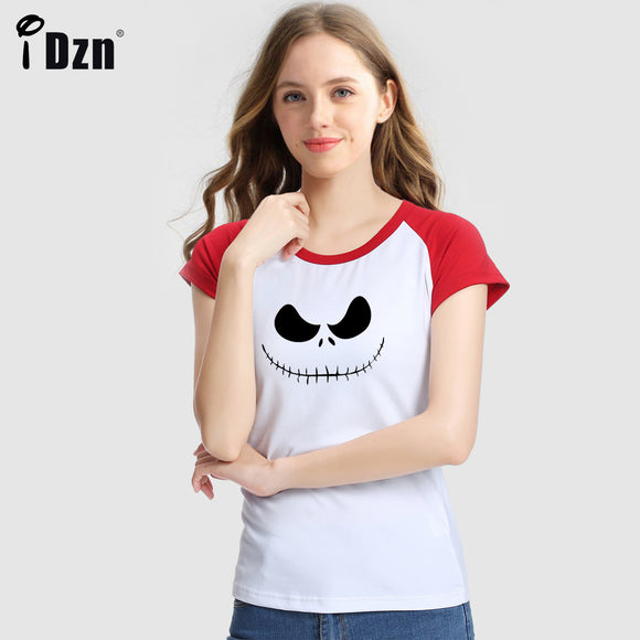 Summer Women T-shirt Rat Mouse Skull Cowboy Style The Nightmare Before Christmas Jack Skellington Short Sleeve Printed Tees Tops