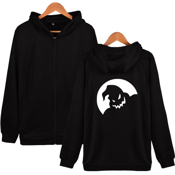 The Nightmare Before Christmas Hoodies With Zipper And Hat Six Style Hooded Sweatshirts Women Men Clothing