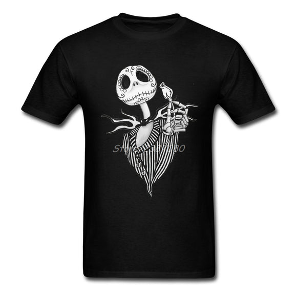 The Nightmare Before Christmas T Shirt Party T-shirt Men Cotton Crewneck XXXL Short Sleeve  Funny T-shirts