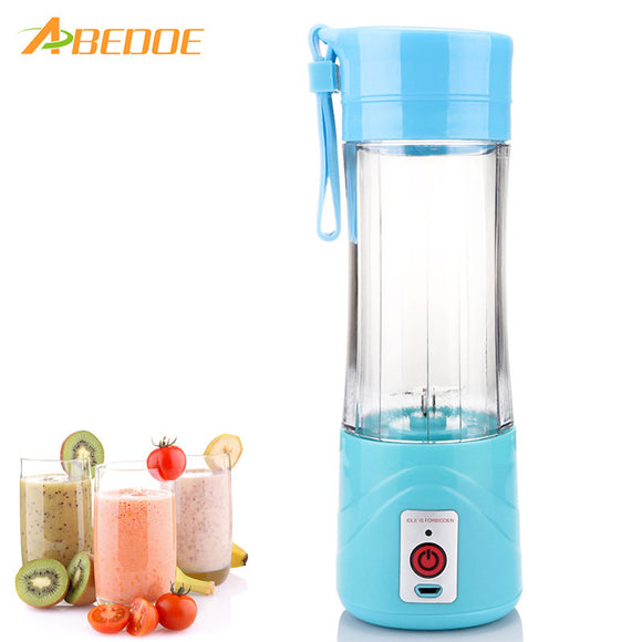 ABEDOE 380ml USB Rechargeable Electric Fruit Juicer Cup Blender Fruit Vegetable Tool Home Garden Kitchen Tools for Superb Mixing - daily stop & shop