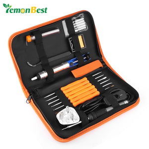 8 in 1 Adjustable Temperature 60W Electric Soldering Iron Kit With US EU UK Plug 6pcs Tips /Soldering Tool Portable repair tool - daily stop & shop