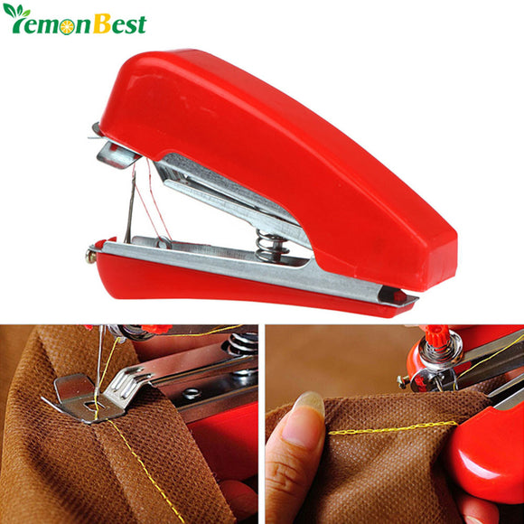 Handheld Mini Sewing Machine Manual Portable Home Travel Small DIY Needlework Cordless Machine Cloth Fabric Stitch Accessorie - daily stop & shop
