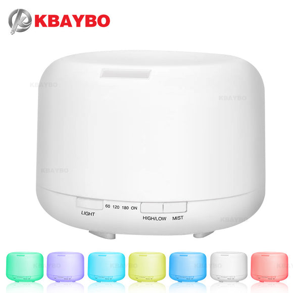500ML Aromatherapy Essential Oil Diffuser Ultrasonic Air Humidifier with 4 Timer Settings 7 LED Color Changing Lamps, 10 Hours - daily stop & shop
