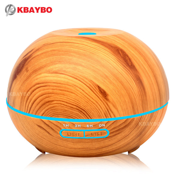 400ml Ultrasonic Humidifier Aroma Essential Oil Diffuser Wood Grain Cool Mist Humidifier aromatherapy diffuser With 7 Color LED - daily stop & shop