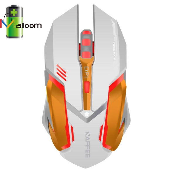 Malloom Wireless Rechargeable 2400DPI 6 Button Optical Game Mouse For Laptop Gaming Mouse For CS High-End Player Mouse USB #201