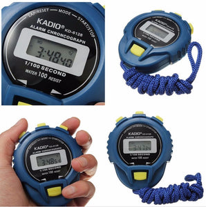 LCD Chronograph Digital Timer Stopwatch Sport Counter Odometer Watch Alarm ## - daily stop & shop