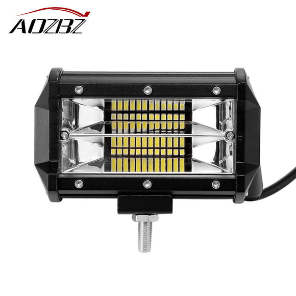 Aozbz 5 inch 72W 24-LED Work Light Bar Offroad Driving Fog Light Flood Lamp 6000K IP67 for 4WD SUV ATV 4X4 Boat ATV car-styling - daily stop & shop