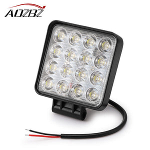 Aozbz 4.2 inch 48W 16-LED Work Light Bar Spotlight Offroad Driving Fog Light Spot Lamp 6000K IP67 for 4WD SUV ATV 4X4 Boat ATV - daily stop & shop