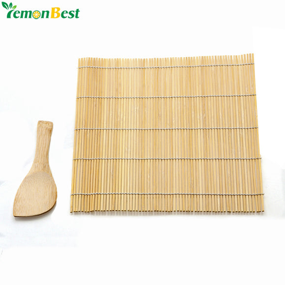 LemonBest New Bamboo Sushi Mat Onigiri Rice Roller Rolling Maker Kitchen Japaness Food 24*24CM - daily stop & shop