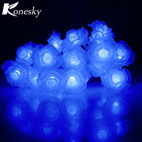 20-LED Love Rose LED String Lighting Night Light Flower fairy lights Party Wedding Christmas Fairy Decor - daily stop & shop