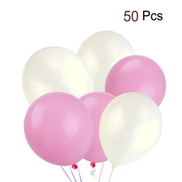50pcs Round Latex Balloons Decorative Balloons Birthday Wedding Party Decoration Supplies - daily stop & shop