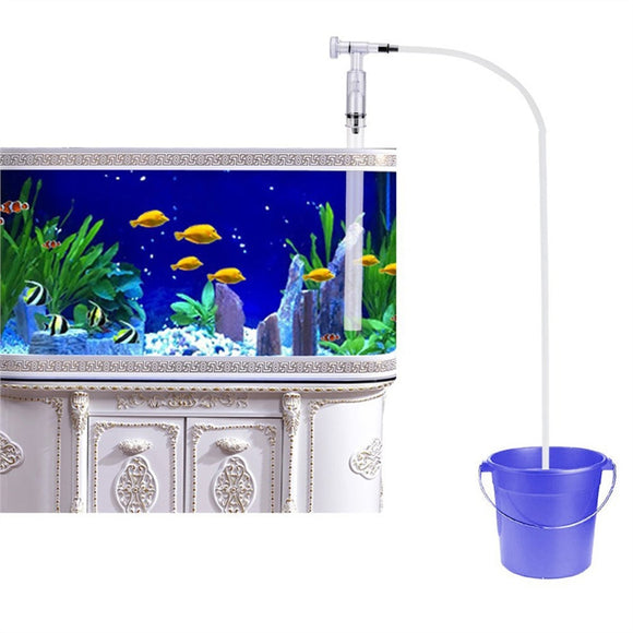 Aquarium Fish Tank Gravel Sand Cleaner Siphon Pump Water Charger with Water Flow Adjuster (Squeeze Free) - daily stop & shop