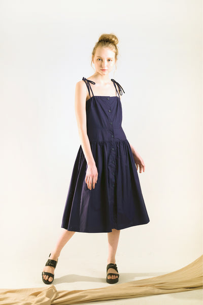 casual midi dress navy