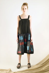 patchwork dress black