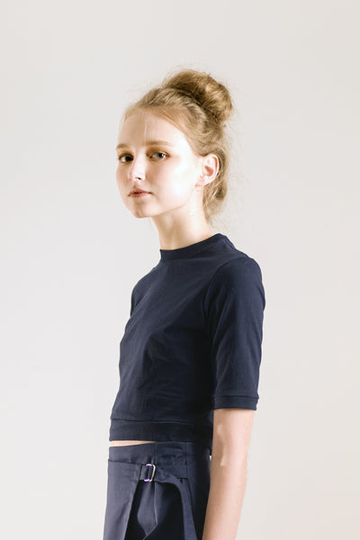 crop top navy