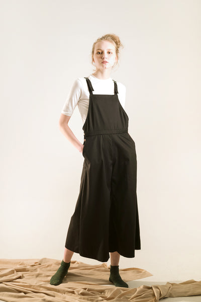 women's wide leg long overalls/ dungarees