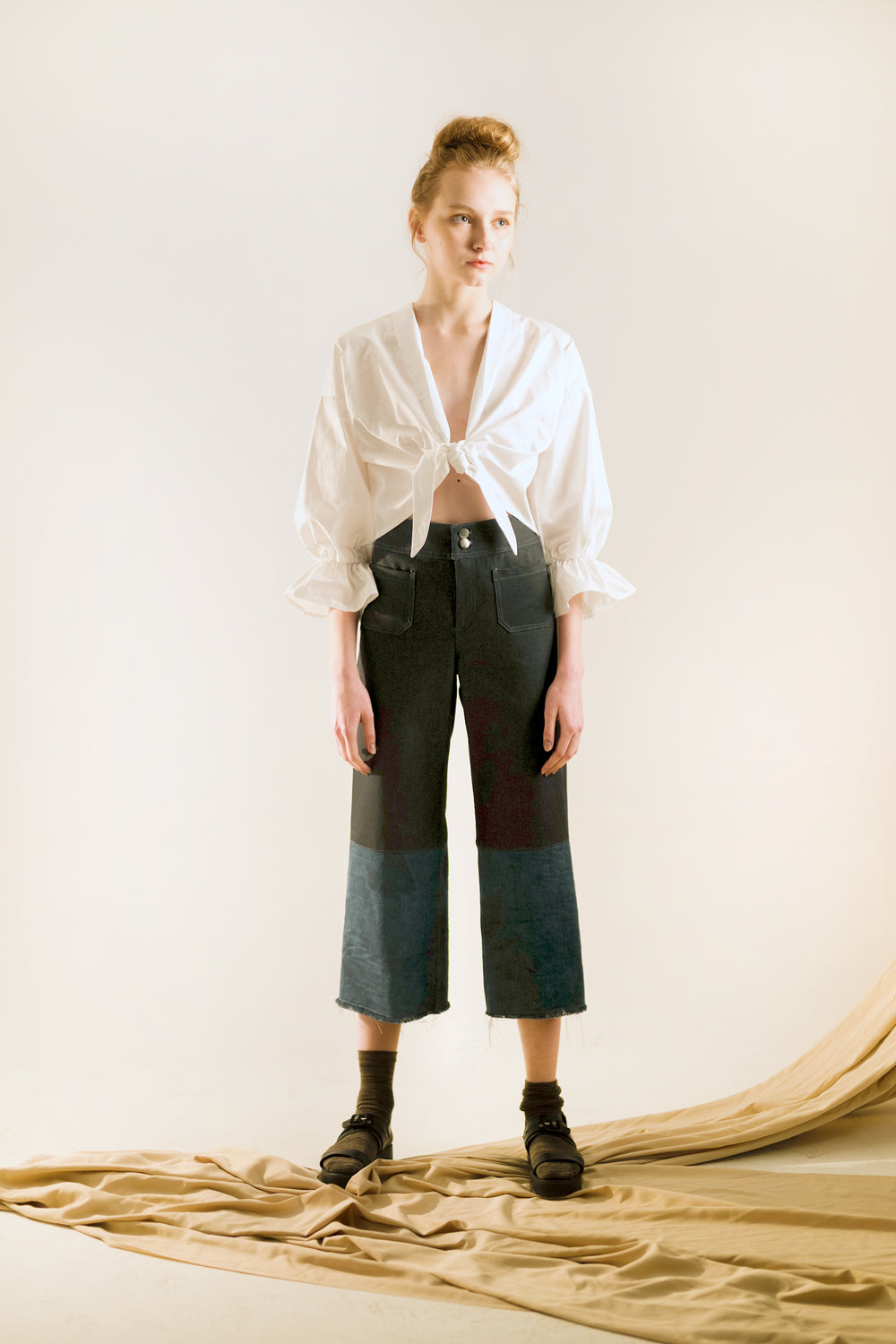 high waist sailor pants