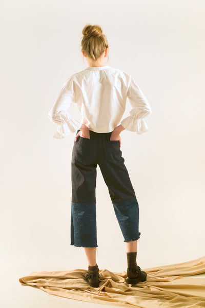 sailor outfit, womens sailor pants denim