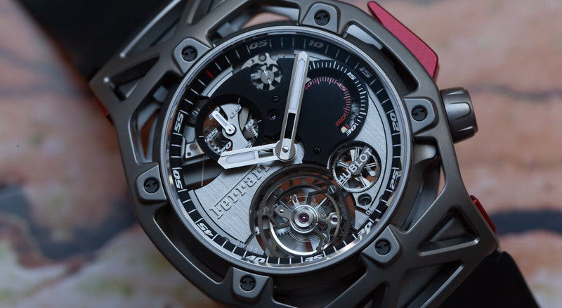 MODERN: The Hublot Techframe Ferrari Tourbillon Chronograph