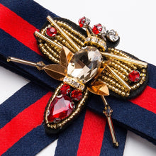 Luxe City Brooch (blue & red)