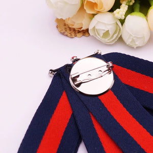 Gucci Inspired BEE LUXE  BROOCH (Blue & Red)