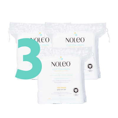 NOLEO Organic Cotton Pads (Pack of 3)