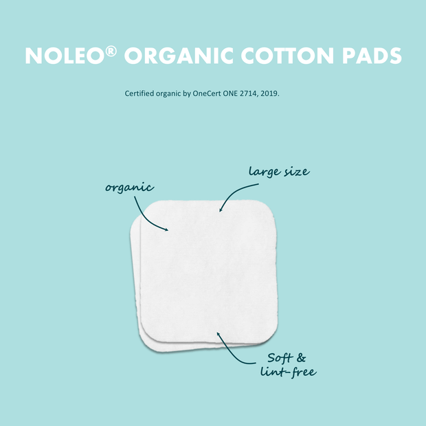 NOLEO Organic Cotton Pads (Pack of 6)