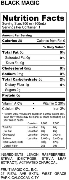 Black Magic Nutrition Facts