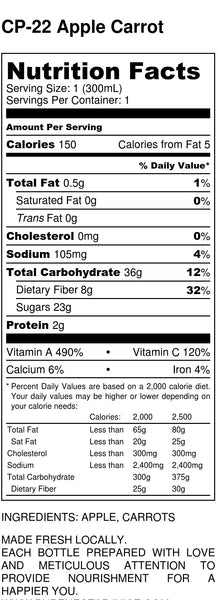 Apple Carrot - Nutrition Facts