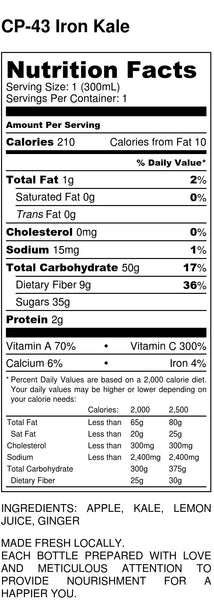 Iron Kale Nutrition Facts