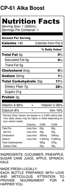 Alka Boost - Nutrition Facts