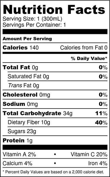 Lemon Zing Tea Nutrition Facts