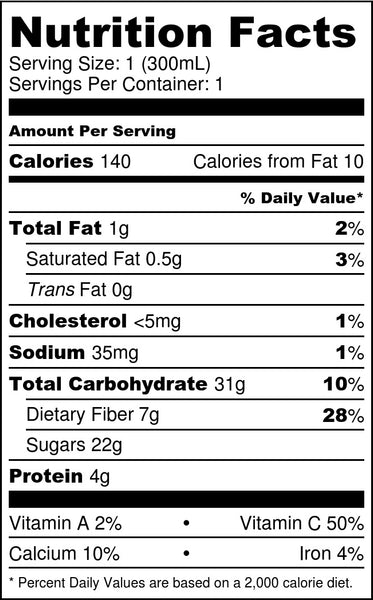 Strawberry Banana Yogurt Nutrition Facts