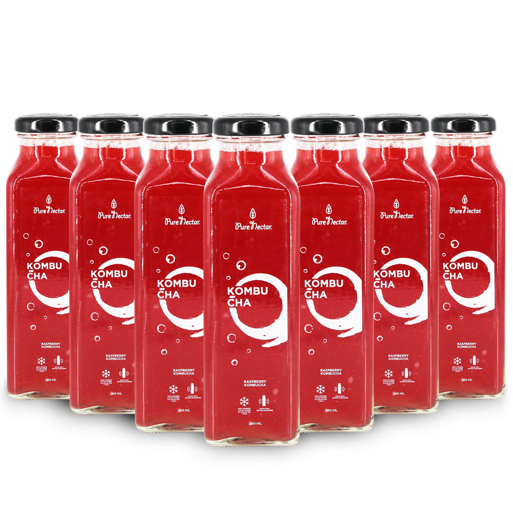 RASPBERRY KOMBUCHA SET (300mL)