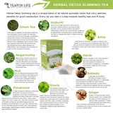 Herbal Detox Tea with Green Tea, Ginger, Mint & Senna Leaves (Detox Tea For Weight Loss)
