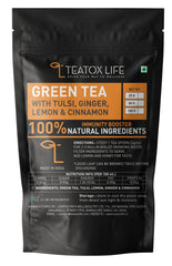 Green Tea with Ginger, Tulsi, Cinnamon and Lemon