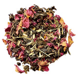 stress relief tea with rose petals