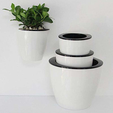 Self Watering Plant Flower Pot Wall Hanging Plastic Planter