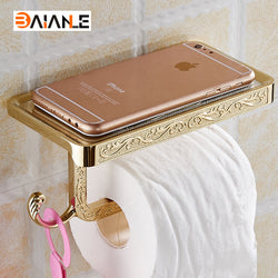 Antique Toilet Paper Holder and Mobile Phone Holder With Hook