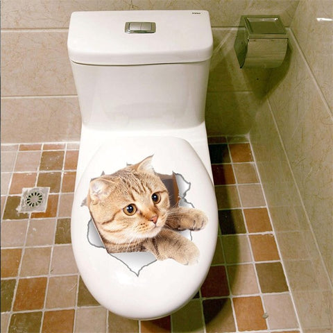 Bathroom Cat Sticker