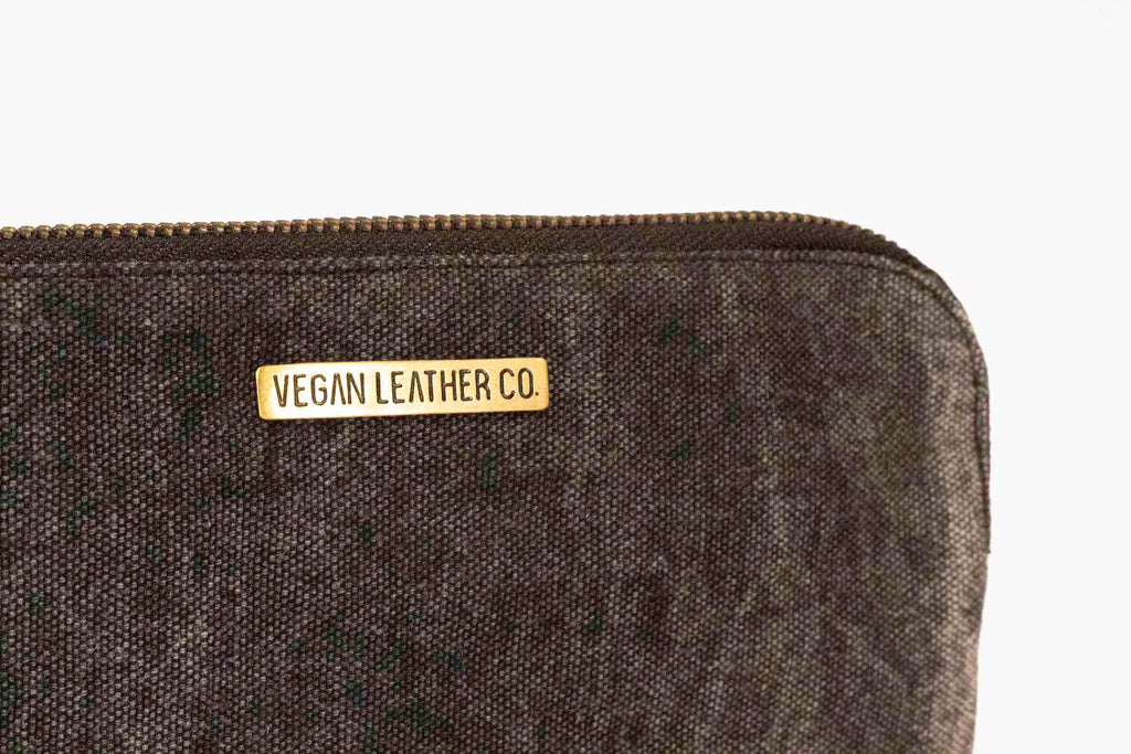 Zip Clutch  |  Vintage Black Canvas