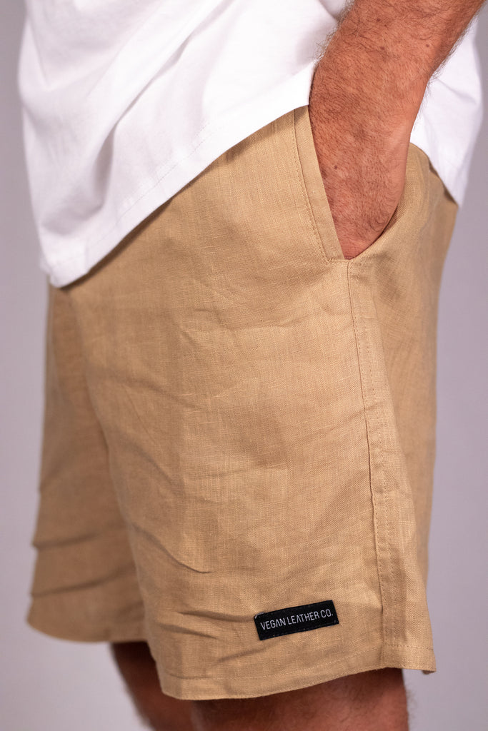 Everyday Linen Shorts - Desert Sand