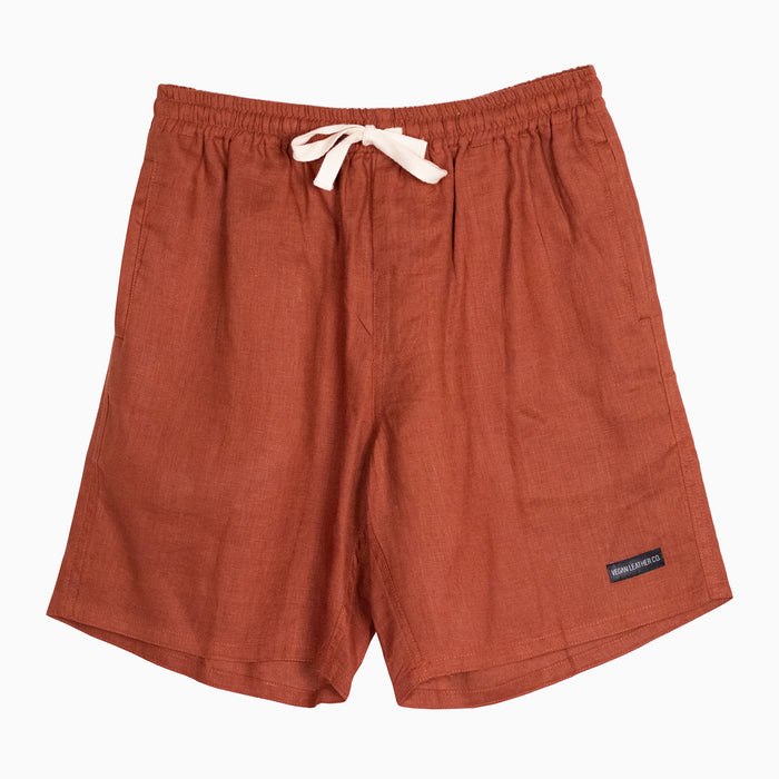 Everyday Linen Shorts - Tobacco