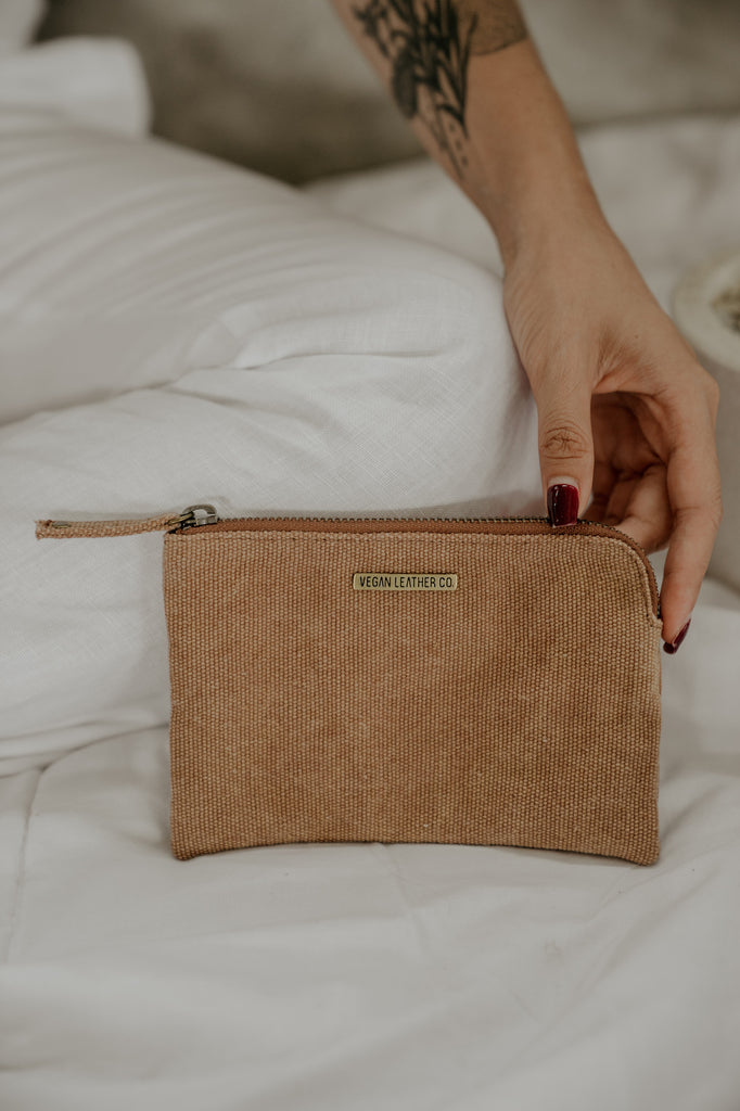 Zip Purse  //  Rust Canvas