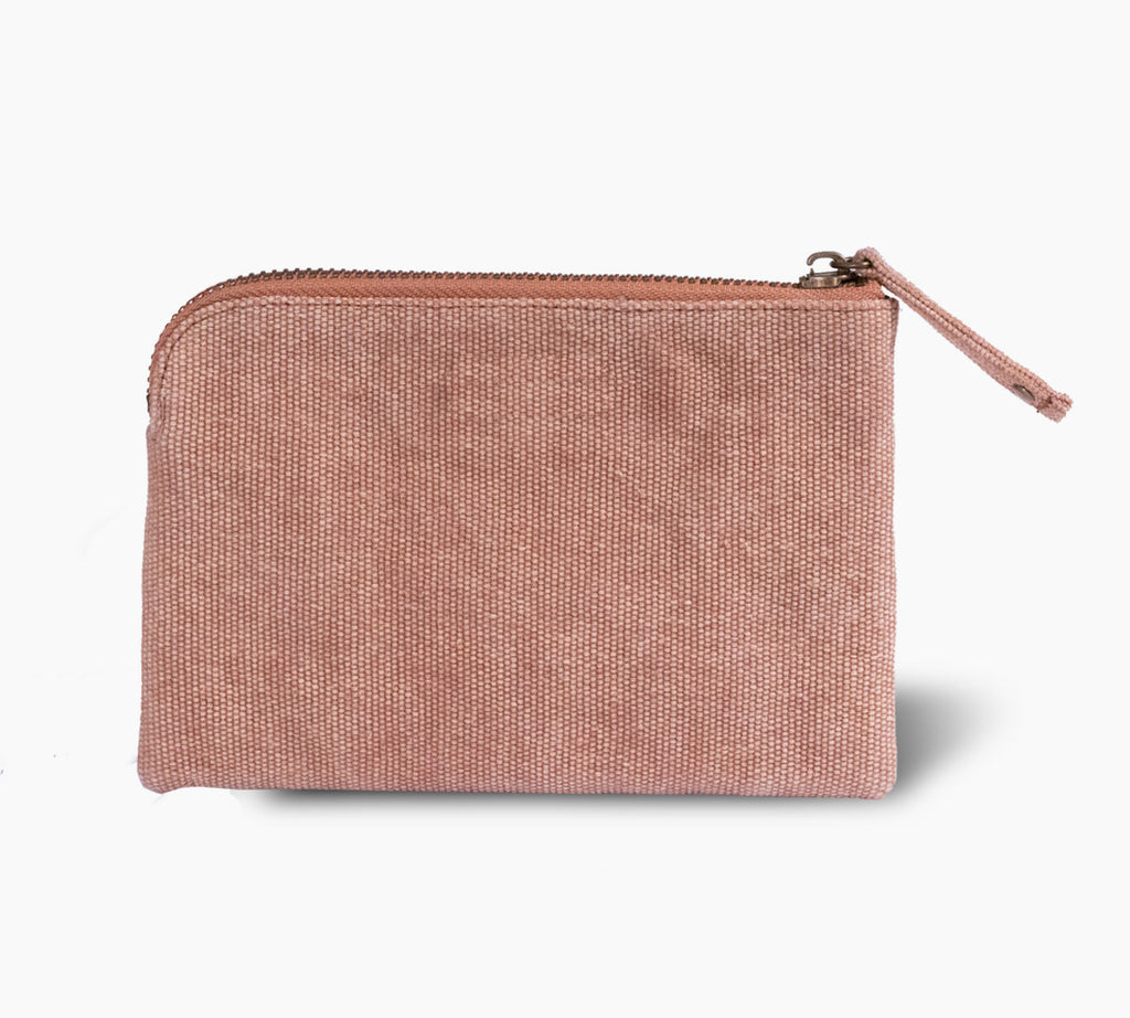 Zip Purse  |  Canvas Rust