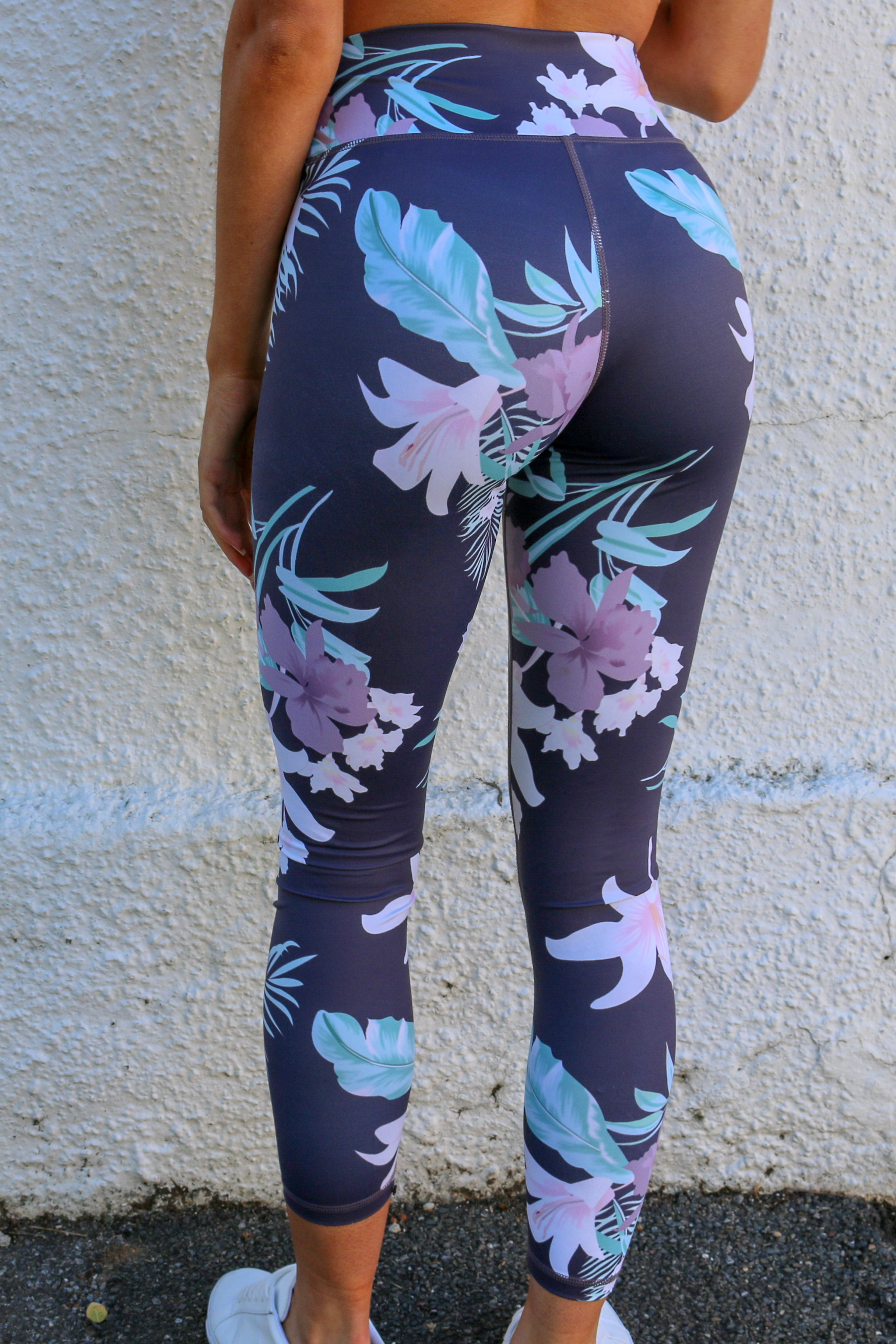 Women's floral printed workout leggings